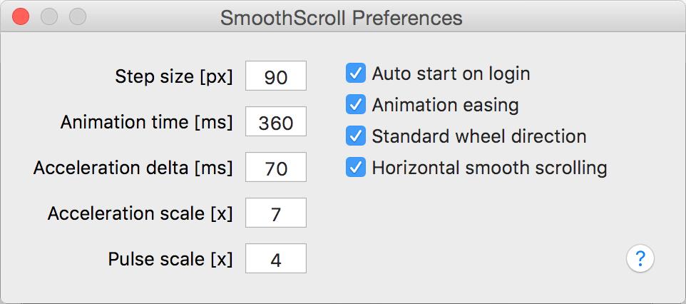 SmoothScroll Mac